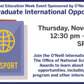 Post-Grad International Opportunities